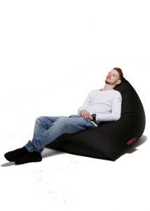 Dr.Relax Chill Bútorszövet Babzsákfotel fekete