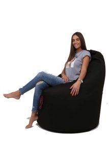 Dr.Relax Comfort babzsák Bútorszövet - Fekete