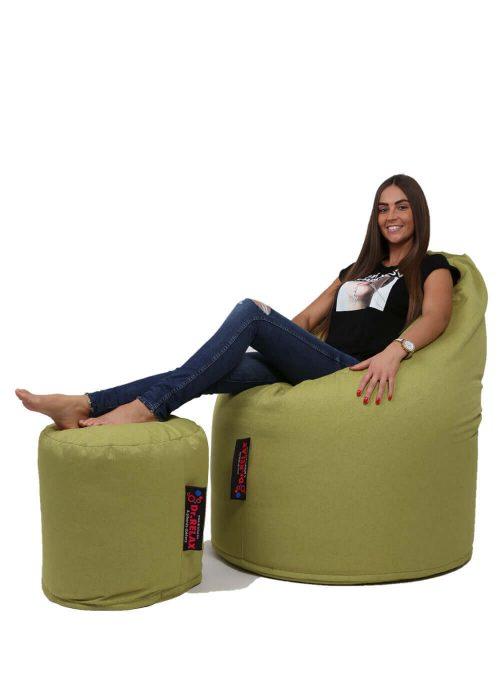 Dr.Relax Comfort babzsák Bútorszövet - Zöld
