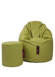 Dr.Relax Comfort babzsák textilbőr - zöld