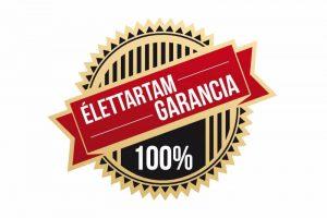 élettartam garancia 100%