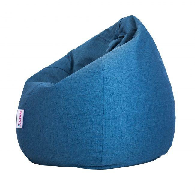 Basic Babzsákfotel Bútorszövet kék