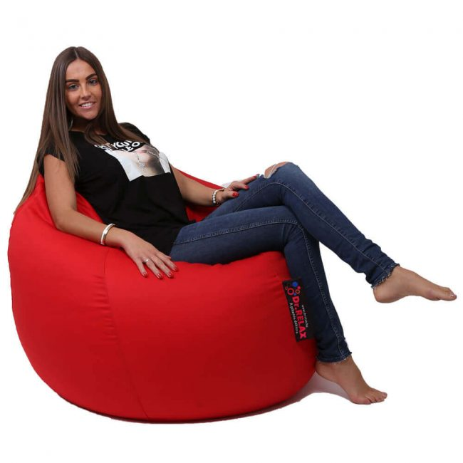 Dr.Relax Basic kültéri babzsákfotel Piros