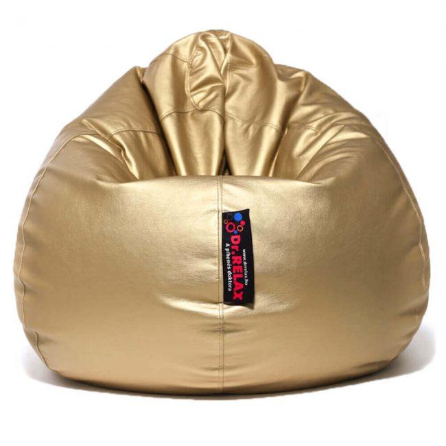 Dr.Relax Basic babzsákfotel textilbőr arany