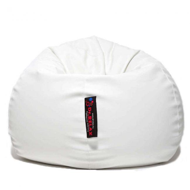 Dr.Relax Basic babzsákfotel textilbőr fehér