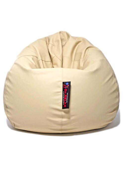 Dr.Relax Basic babzsákfotel textilbőr homok