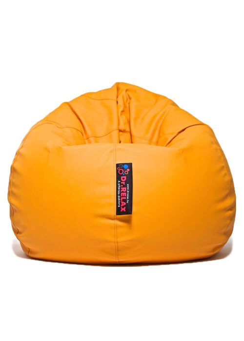 Basic Babzsákfotel Textilbőr Narancs