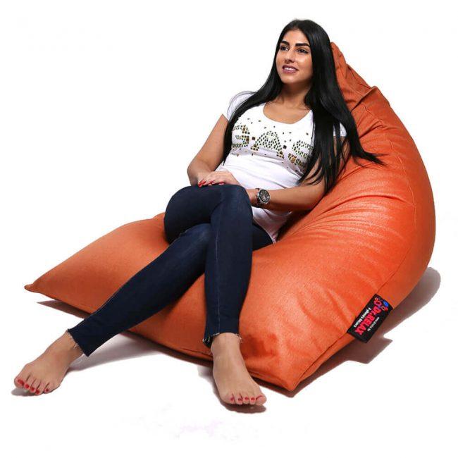 Dr.Relax Chill Bútorszövet Babzsákfotel Narancs