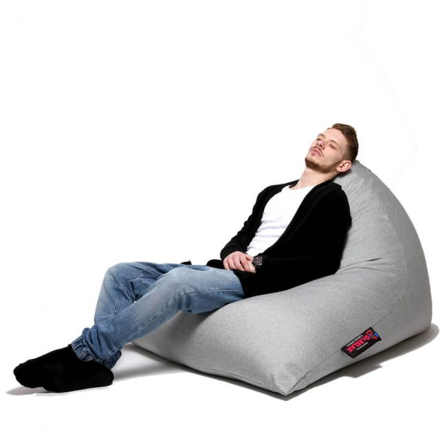 Dr.Relax Chill Bútorszövet Babzsákfotel szürke