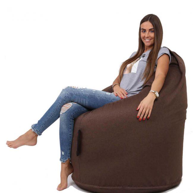Dr.Relax Comfort babzsák Bútorszövet - Barna