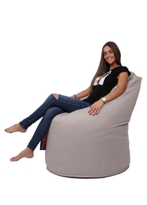 Dr.Relax Comfort babzsák Bútorszövet - Homok