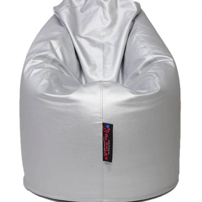 Dr.Relax Comfort babzsák textilbőr - Ezüst