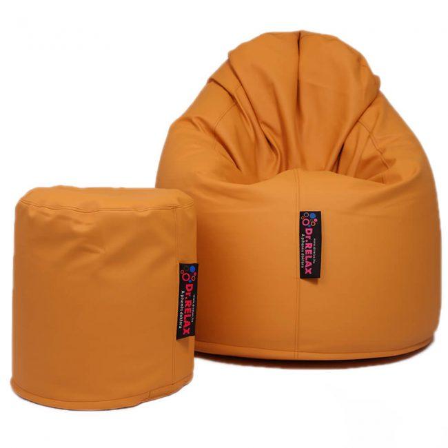 Dr.Relax Comfort babzsák textilbőr - narancs