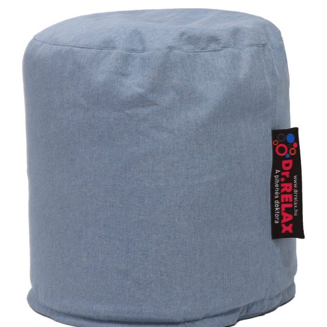 Dr.Relax Puff babzsák Bútorszövet - Kék