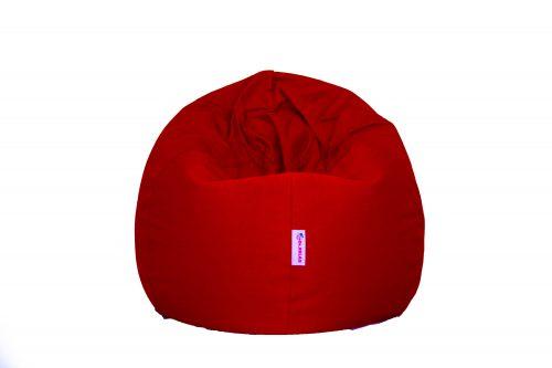 Basic Babzsákfotel Bútorszövet piros